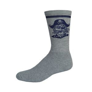 Colored Full Cushion Crew Sock w/Knit-In Logo